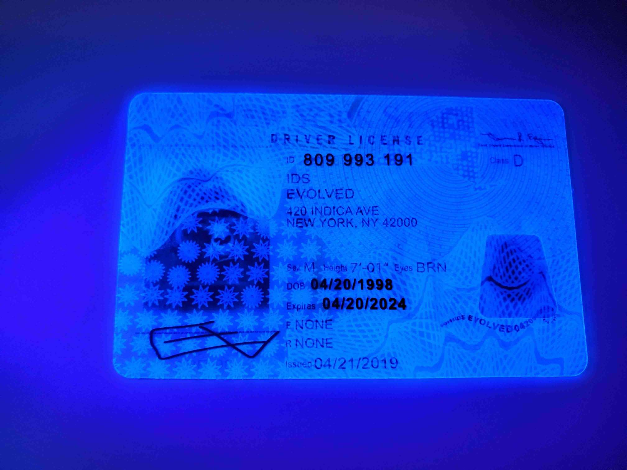 New York Fake ID UV