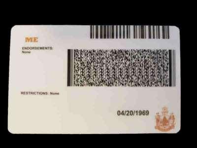 Maine Fake ID Back