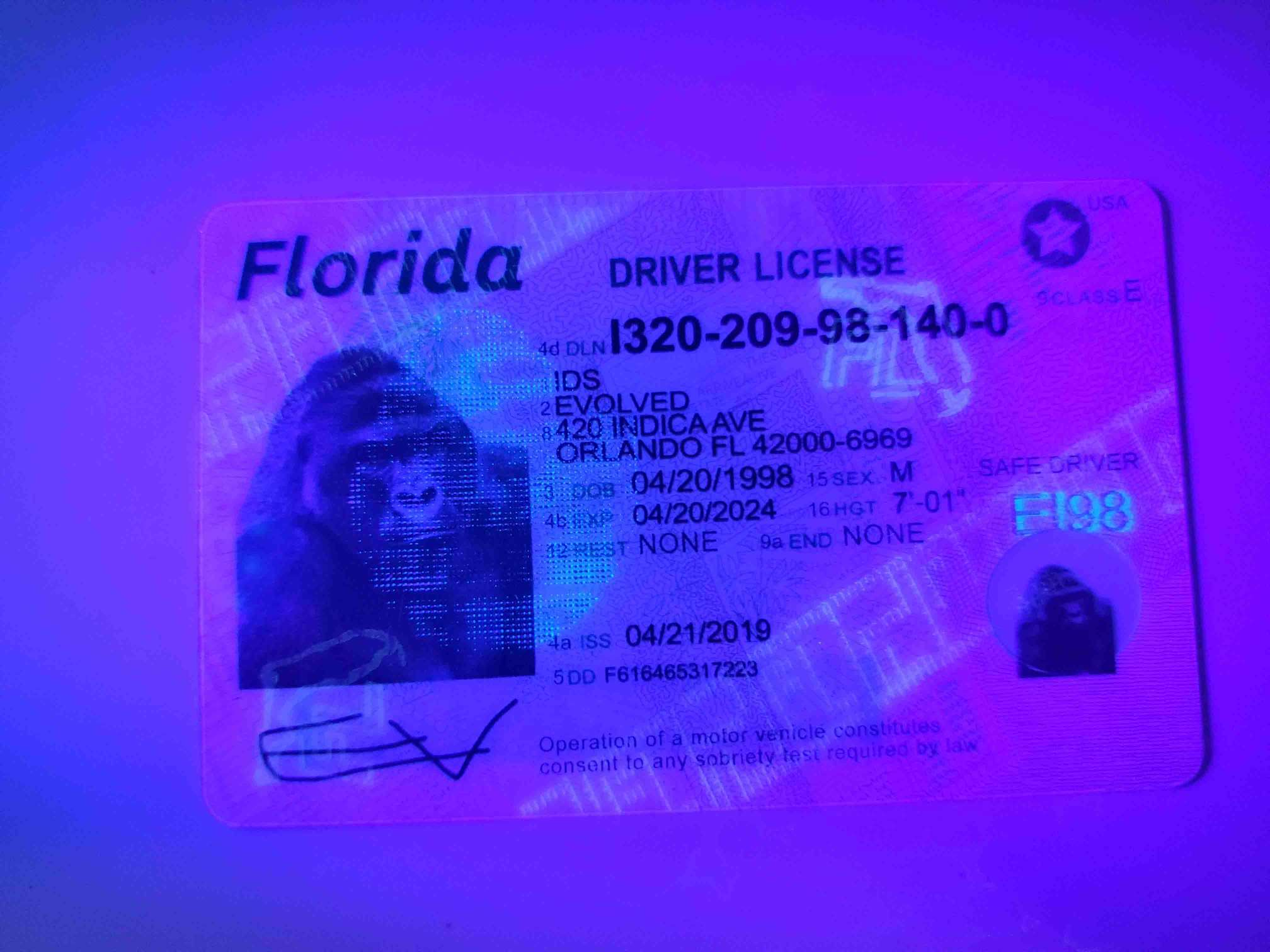 Florida Fake ID UV