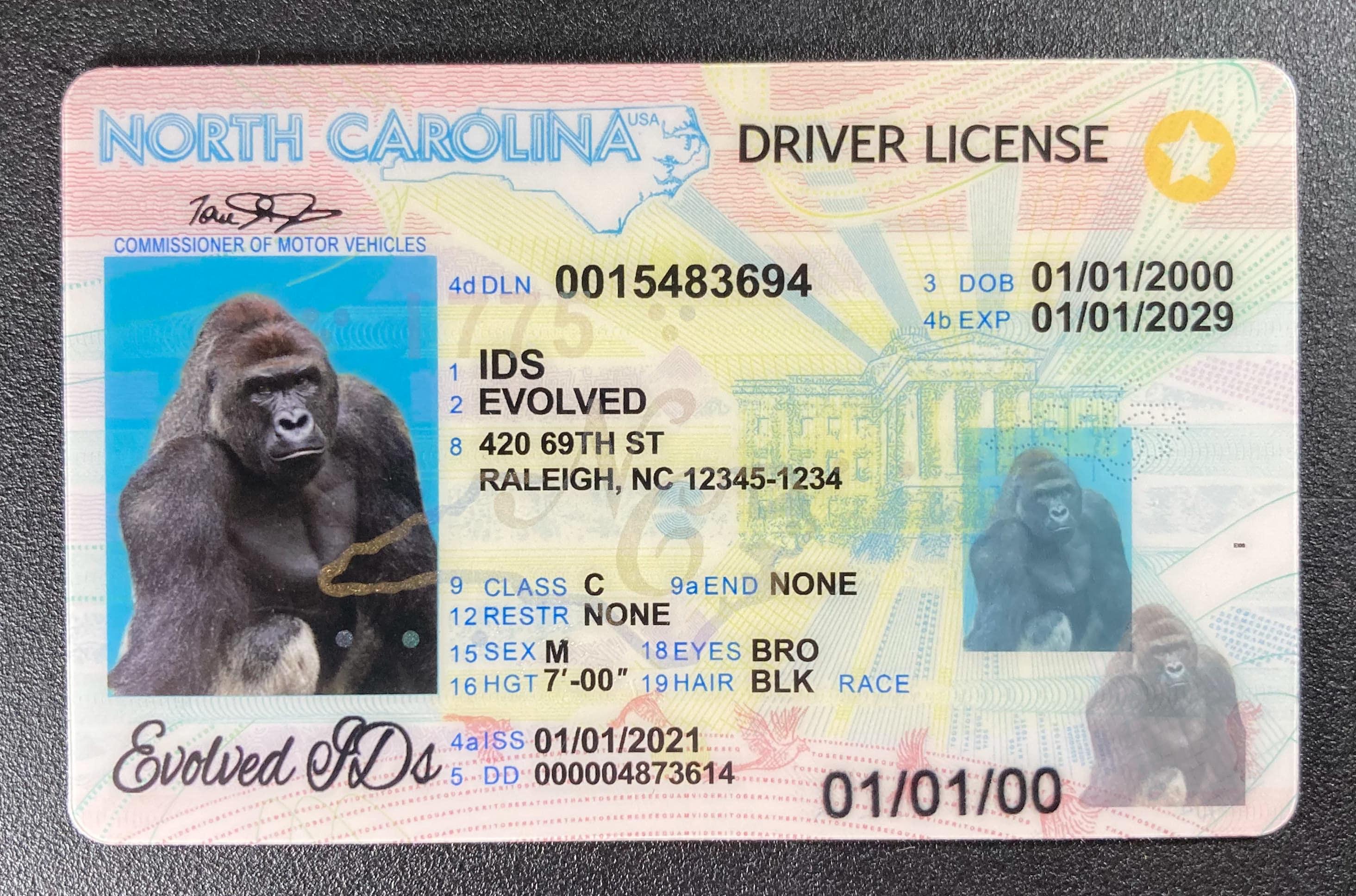 North Carolina Fake ID