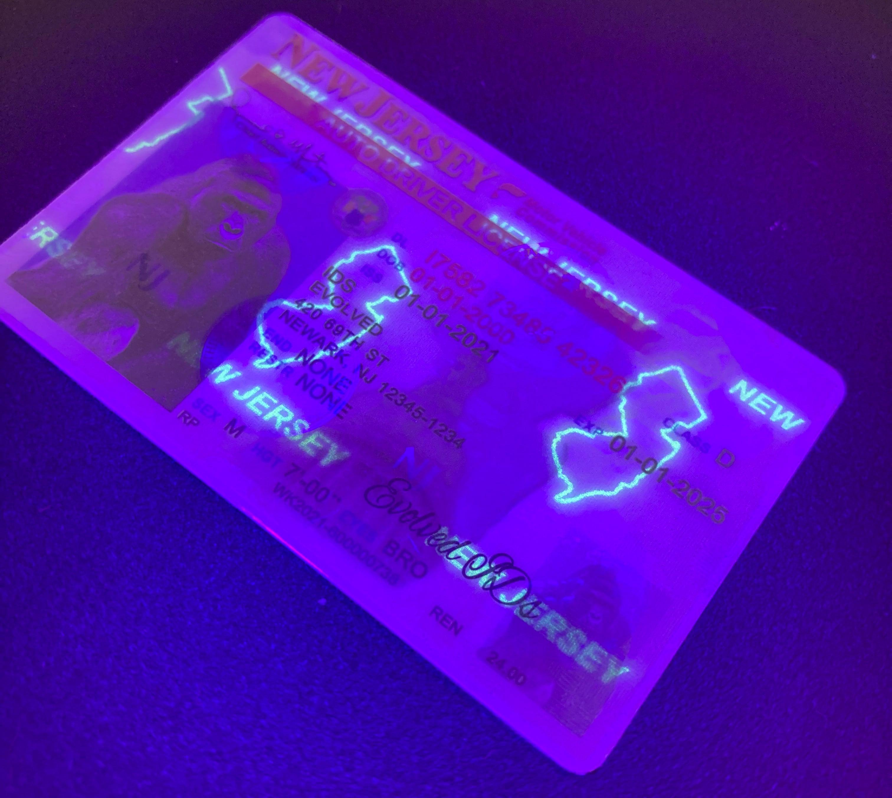 New Jersey Fake ID UV