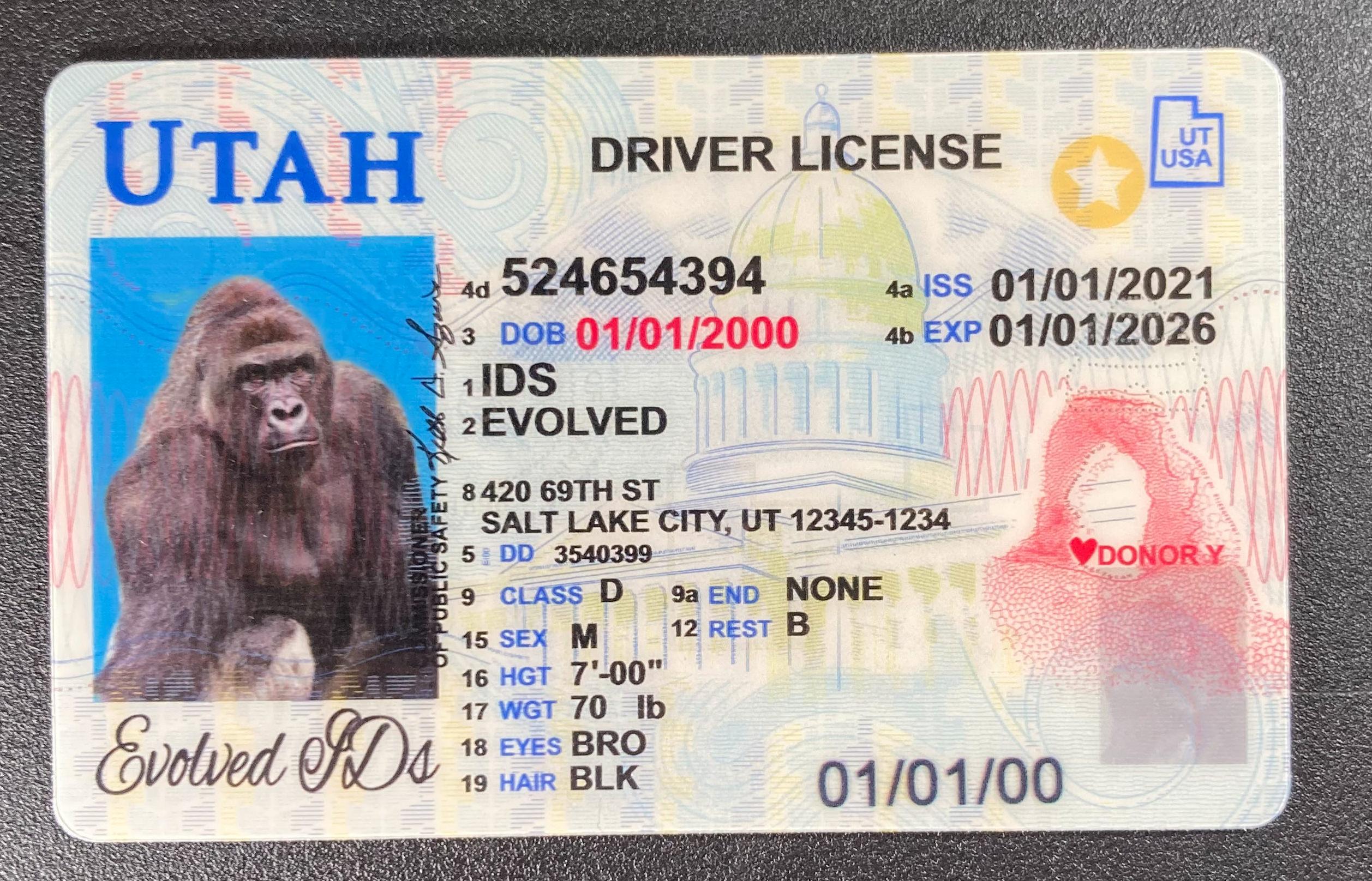 Utah Fake ID